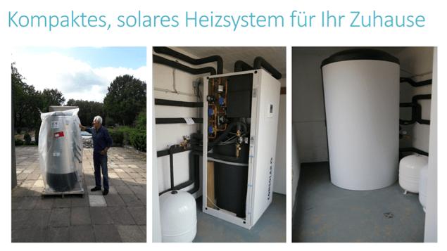 Abbildung Kompaktes solares Heizsystem für Ihr Zuhause