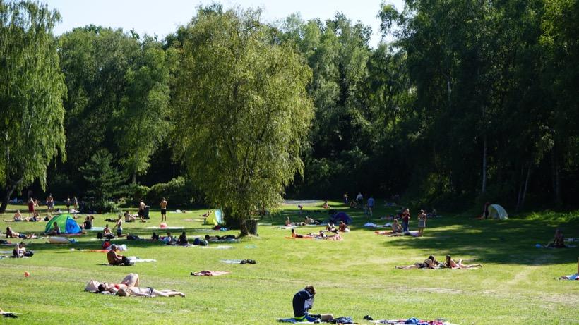 Freibad Kiebitzberge im Sommer 2018 Außenanlage