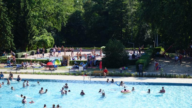 Freibad Kiebitzberge im Sommer 2018 Nichtschwimmerbecken